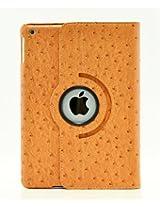 iPad Air 2 Case, LiViTech(TM) Ostrich Design Series 360 Rotating PU Leather Case Smart Cover for Apple iPad Air 2 (A1566) (Orange)