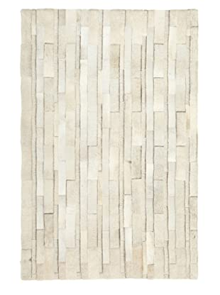 Hide Rug White Running Bond, 4' x 6'