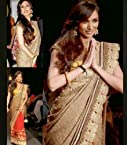 Malaika Arora Style Bollywood Golden Saree At Lakme Fashion Week 2013