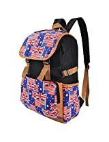 Bestpricecenter Unisex Casual Canvas Camping Backpack Travel Shoulder School Bag Case for Apple MacBook Pro with Retina display 13'' 15'' / HP / Dell /Lenovo / ASUS / Toshiba / Acer /Sony 15.6 inch Laptops (England Flag Design)