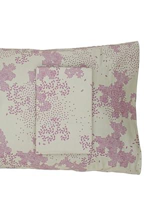 Twinkle Living Pair of Dew Pillowcases, Thistle/Basil, Standard