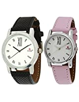 Evelyn Combo of Analogue White Dial Unisex Watch - Combo-P-210
