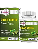 StBotanica Green Coffee Bean Extract For Weight Loss 800mg 90 Veg Caps - Buy 1 at 30% Off