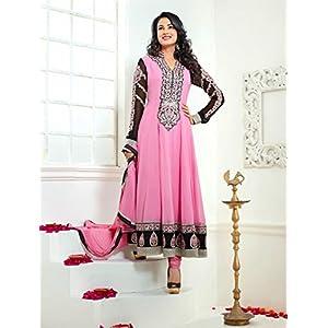 VandV-New Arrival Pink Fashionable Designer Long Anarkali Suit By Valuze