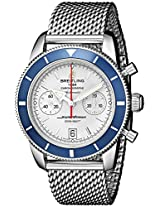 Breitling Men's BTA2337016-G753SS Superocean Heritage 44 Stainless Steel Automatic Watch with Mesh Bracelet