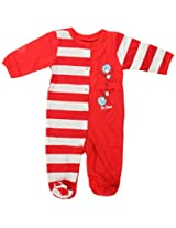 Bumkins Dr. Seuss Footed Sleeper, Red Stripe, 3 Months