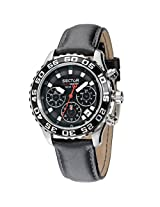 Sector Black Leather Analog Men Watch - R3271679 125