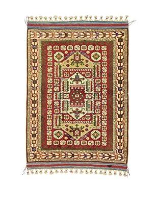 L'Eden del Tappeto Teppich Antik rot/mehrfarbig 155t x t120 cm