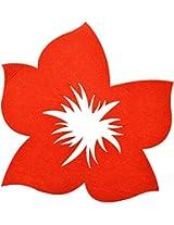 Felt Wall Decor Florals Red CD158 1pc MC