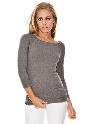 Springfield Jersey Básico Cuello Barco (gris)