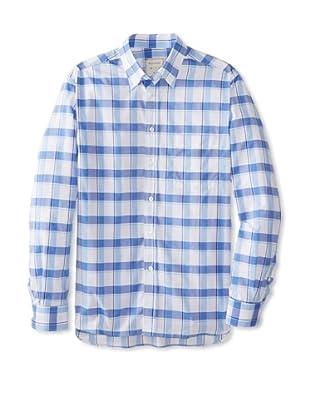 Billy Reid Men's Orleans Woven Shirt (Blue/White)