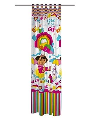 Euromoda Licencias Cortina con Trabillas Dora Rainbow (Multicolor)