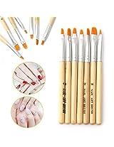 Professional Nail Brush Painting Tool Pen Polish DIY Set Kit 7pcs