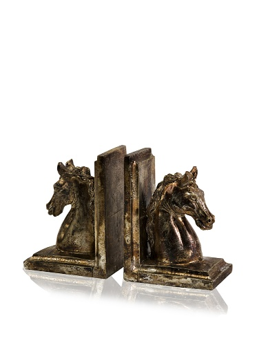Imax Set of 2 Quinn Horse Bookends