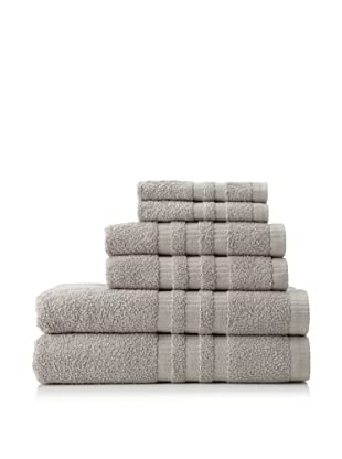 6-Piece Bath Towel Set, Light Grey