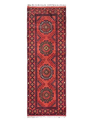 Hand-Knotted Finest Khal Mohammadi Rug, Copper/Dark Red, 1' 9