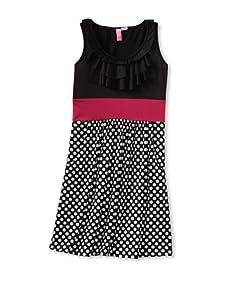 Hype Girl's Baby Dot Dress (Black)
