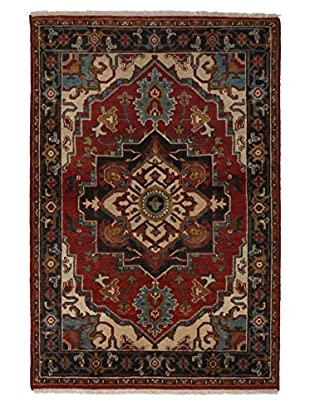 Darya Rugs Traditional Oriental Rug, Red, 4' 2