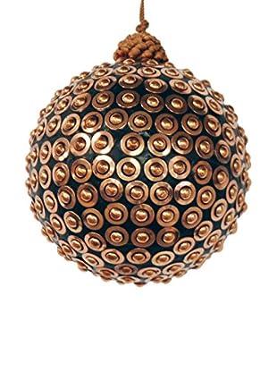 Winward Studded Metal Ornament, Black/Copper