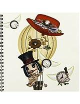 3dRose db_102668_1 Gothic Laveau Hot Air Balloon Steampunk Art-Drawing Book, 8 by 8-Inch