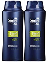 Suave Men 3-in-1 Shampoo Conditioner & Body Wash for Men 28 oz 2 Pack