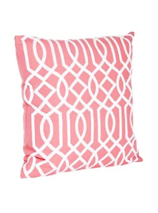 Saro Lifestyle Coral Embroidered Design Pillow