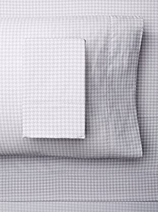 Melange Home 400 Thread Count 100% Cotton Houndstooth Classic Hemstitch Sheet Set
