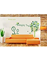 UberLyfe Happy Tree Wall Sticker for Living Room