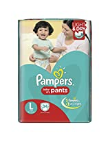 Pampers Large Size Diaper Pants (34 Count)