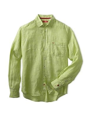 Rufus Men's Casual Button-Up Shirt (lime green)