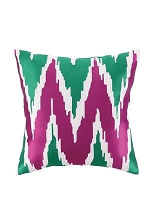 Peking Handicraft Sarah Pillow, Pink/Green