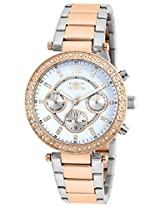 Invicta Women's Quartz Watch with Silver Dial Chronograph Display and Multicolour Stainless Steel Plated Bracelet 21559