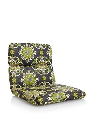 Waverly Sun-n-Shade Garden Crest Rounded Chair Cushion (Onyx)