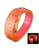 Sound Sensitive LED Light Glow Wristbands Bracelet Bangle Party Concert Orange