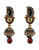 Agarwal Bentex Gold Plated Peacock Jhumki For Women