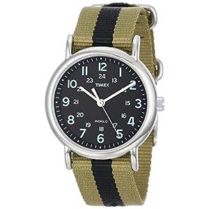 Timex Weekender Indiglo Analog Black Dial Unisex Watch - T2P236