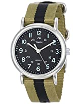 Timex Weekender Indiglo Analog Black Dial Unisex Watch - T2P236