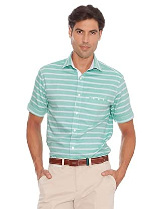 PEDRO DEL HIERRO Camisa Raya Horizontal (Verde)