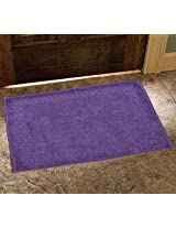 Avira Home 900 GSM Greek Design Terry Mat-Bathmat-Floor Mat-Door Mat-100% Cotton-Purple