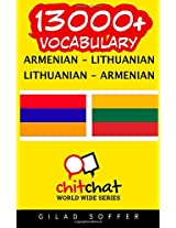 13000+ Armenian - Lithuanian, Lithuanian - Armenian Vocabulary