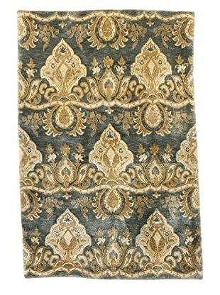 F.J. Kashanian Lauren Hand-Knotted Rug, Celadon, 4' x 6'