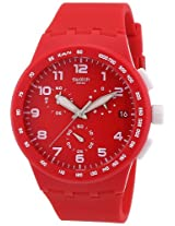 Swatch Analogue Red Dial Unisex Watch - (SUSR400)