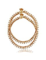 Ratnakar Golden Colour Copper Anklets for Women