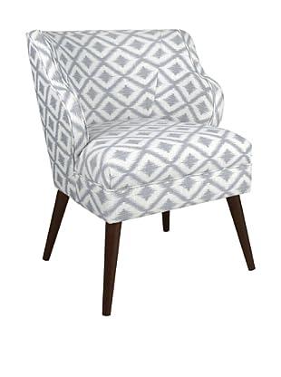 Skyline Furniture Modern Chair, Ikat Fret Pewter