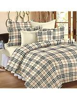HAV Double bed Reversible Dohar/AC Quilt Checks Print