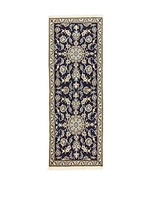 L'Eden del Tappeto Teppich Nain K blau/beige 204t x t78 cm