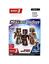 3D Character Creator Marvel Guardians of the Galaxy Basic Refill Pack Novelty Toy
