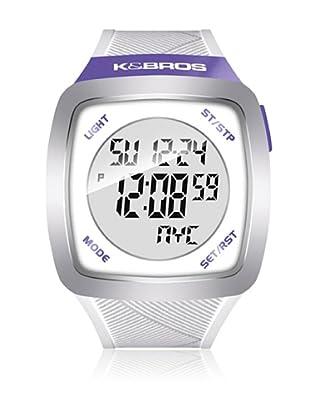 K&BROS Reloj 9567 (Blanco Violeta)