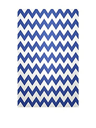 e by design Chevron Rug, Blue