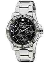 Seiko Lord Chronograph Black Dial Women's Watch - SRLZ93P1